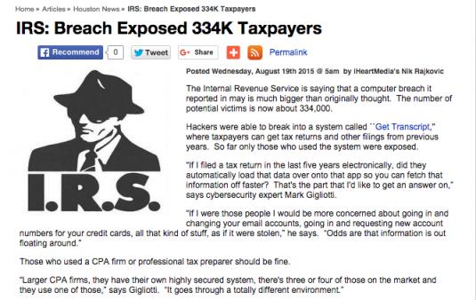 IRS Breach Article